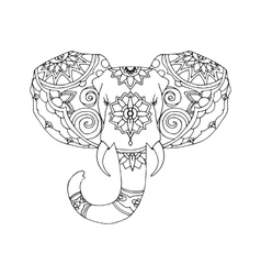 Hand Drawn of elephant vector image vector image