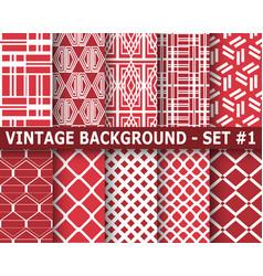 ornamental seamless patterns vector image