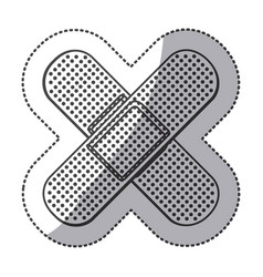 silhouette bands aids icon vector image