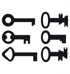 six small keys vector image vector image