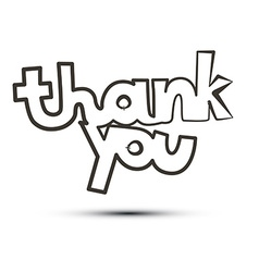 Thank You Title Isolated on White Background vector image vector image