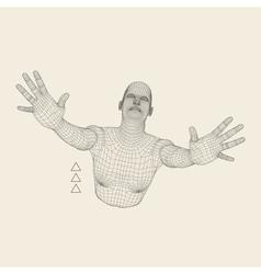 3D Model of Man Polygonal Geometric Design vector image vector image