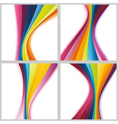 Collection rainbow cards templates vector image