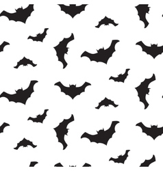 Halloween flying bats seamless pattern vector image