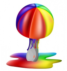 rainbow mushroom vector image vector image