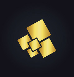 square gold digital logo vector image