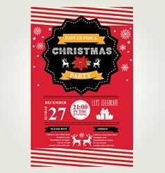 christmas menu invite vector image