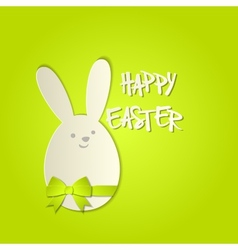 Easter bunny with a bow greeting card vector image vector image