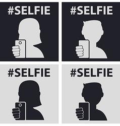 GuyGirl taking self photo icon - vector image vector image