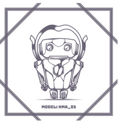 robot model number hma 03 black vector image