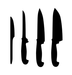 Set of table knifes vector image