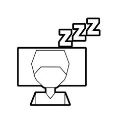 sleeping man avatar icon vector image vector image