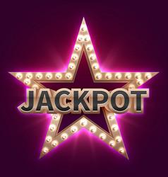 vintage casino mega bonus poster with retro vector image vector image