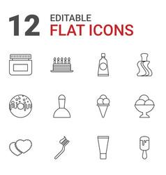 12 cream icons vector