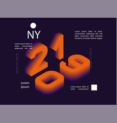 2019 colored banner with 2019 numbers vector image