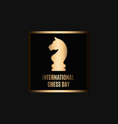 20th of july - international day of chess concept vector