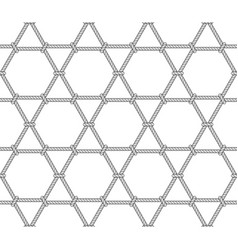 Abstract hexagonal rope pattern vector