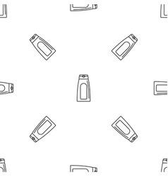 aloe tube cream pattern seamless vector image