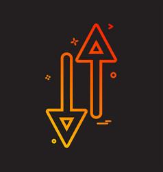 arrow up down way icon design vector image