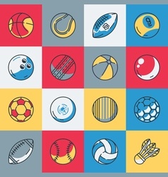 Balls icons set vector