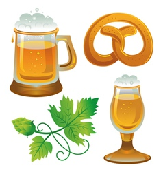 Beer set Collections for Oktoberfest vector
