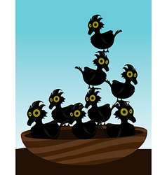 Birds in nest vector