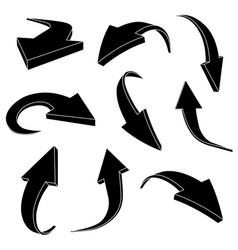 black silhouette arrows vector image