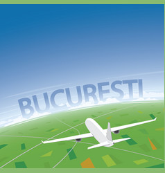 Bucharest flight destination vector