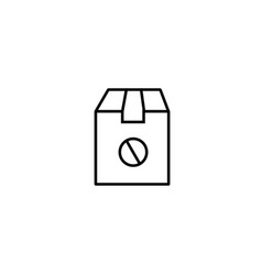 canceled delivery icon vector image vector image