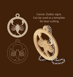 Cancer zodiac signs can be used as a template vector