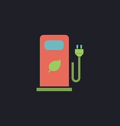 Car charging station computer symbol vector