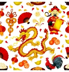 Chinese New Year seamless pattern background vector