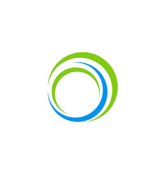 circle round technology logo vector image