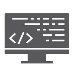 coding glyph icon programming and development vector image
