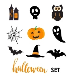 Collection of halloween stickers for your design vector image