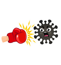 coronavirus vs boxing glove vector image