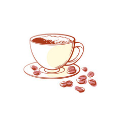 Cup of coffee isolated icon vector