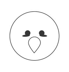 cute bird cartoon icon vector image