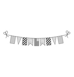 decorations bunting flags for united states vector image