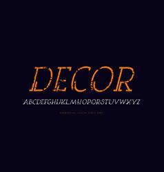 decorative clip italic serif font vector image