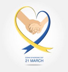 Down syndrome day design vector