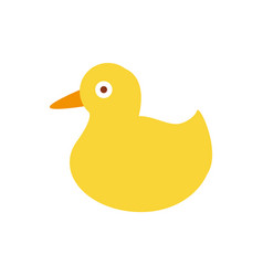 Duck toy of yellow color vector