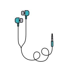 earphones isolated icon design vector image