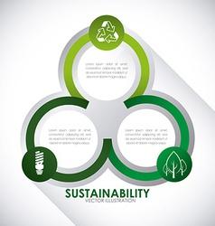 Eco sustainibility vector