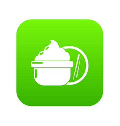 face cream icon green vector image