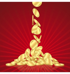 Falling gold coins vector