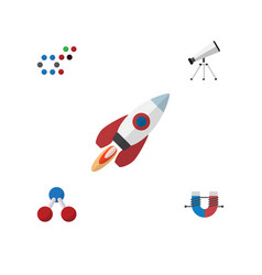 Flat icon knowledge set of molecule attractive vector