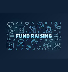 fund raising blue line on dark vector image