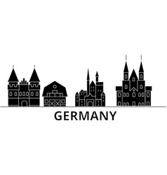 Germany architecture city skyline travel vector