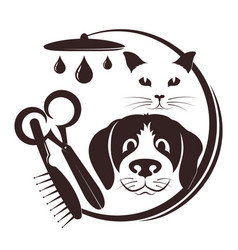 Hairdresser for pets vector